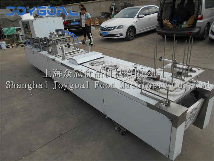September 8, 2018,one BHJ-1 automatic big tray sealing machine is sent to custom