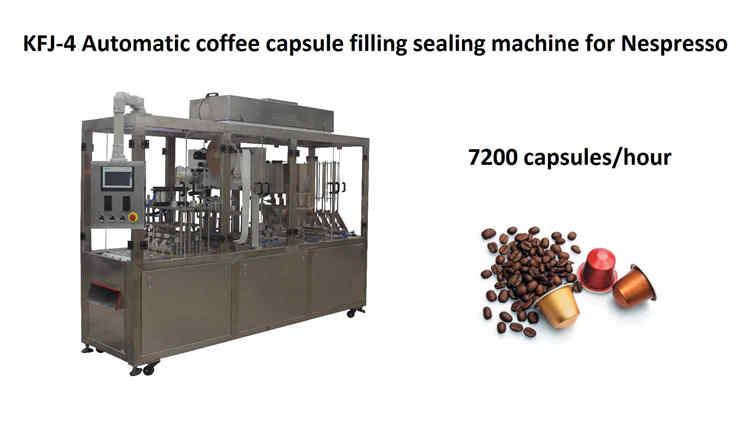On January 8, 2019, KFJ-4 high speed coffee capsule filling and sealing machine