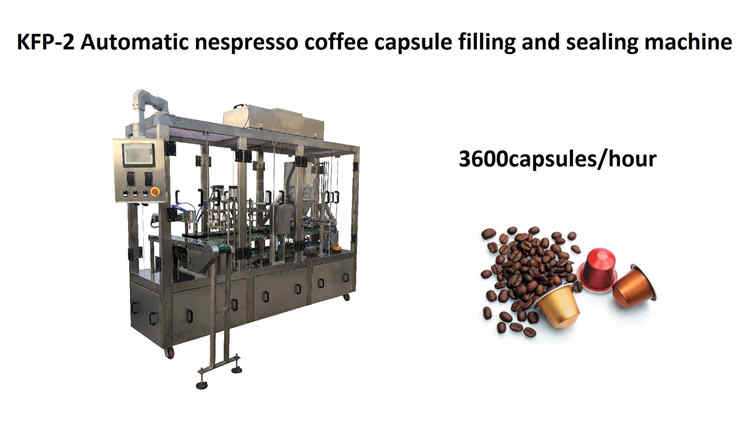 January 25, 2019, KFP-2 high speed coffee capsule filling and sealing machine