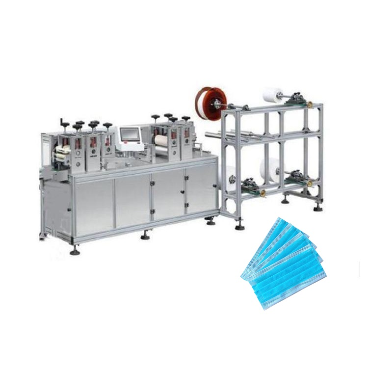 High speed semi automatic no earloop blank face mask making machine
