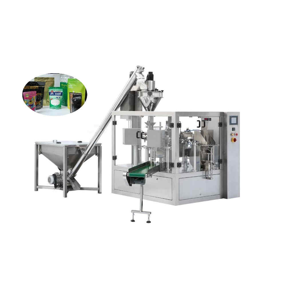 Automatic rotary bag packing machine for powder