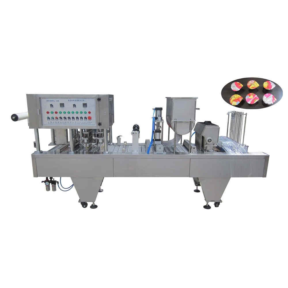 BHJ-6 Automatic cup filling and sealing machine for jelly
