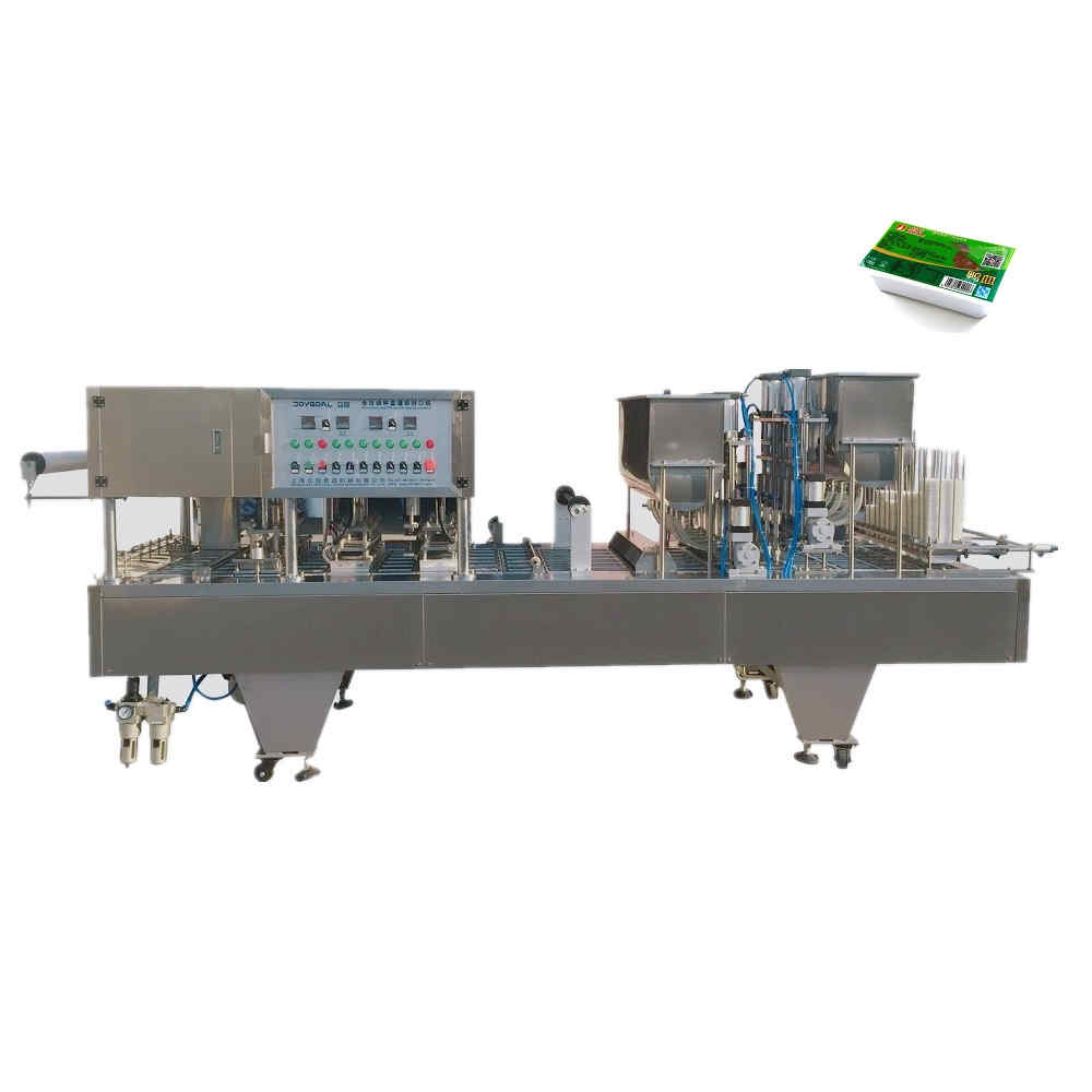 BHJ-6 automatic cup filling and sealing machine for duck blood