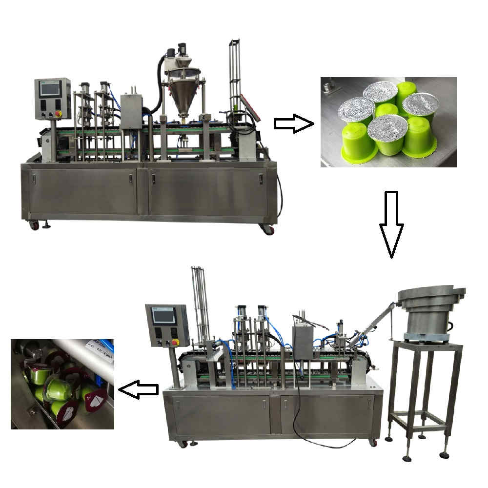 KFP-1 Automatic coffee capsule filling and sealing line
