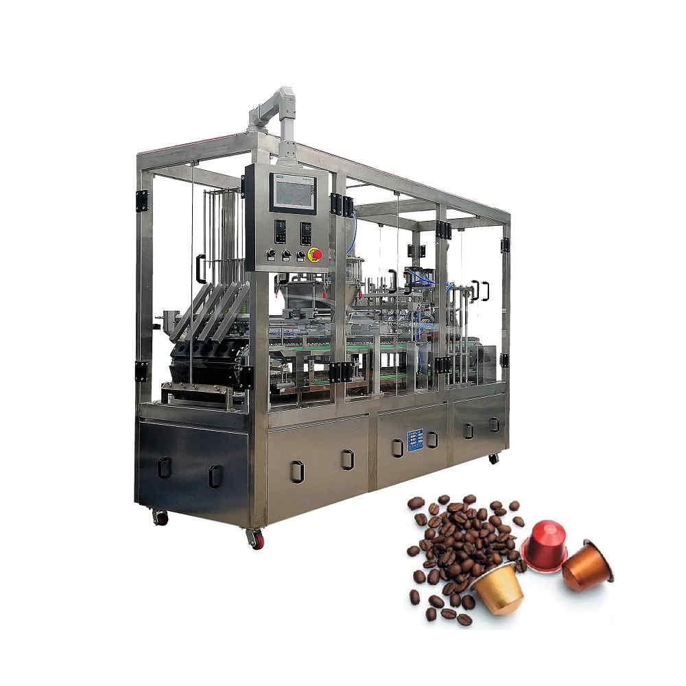 KFP-4 Automatic coffee capsule filling and sealing machine for Nespresso