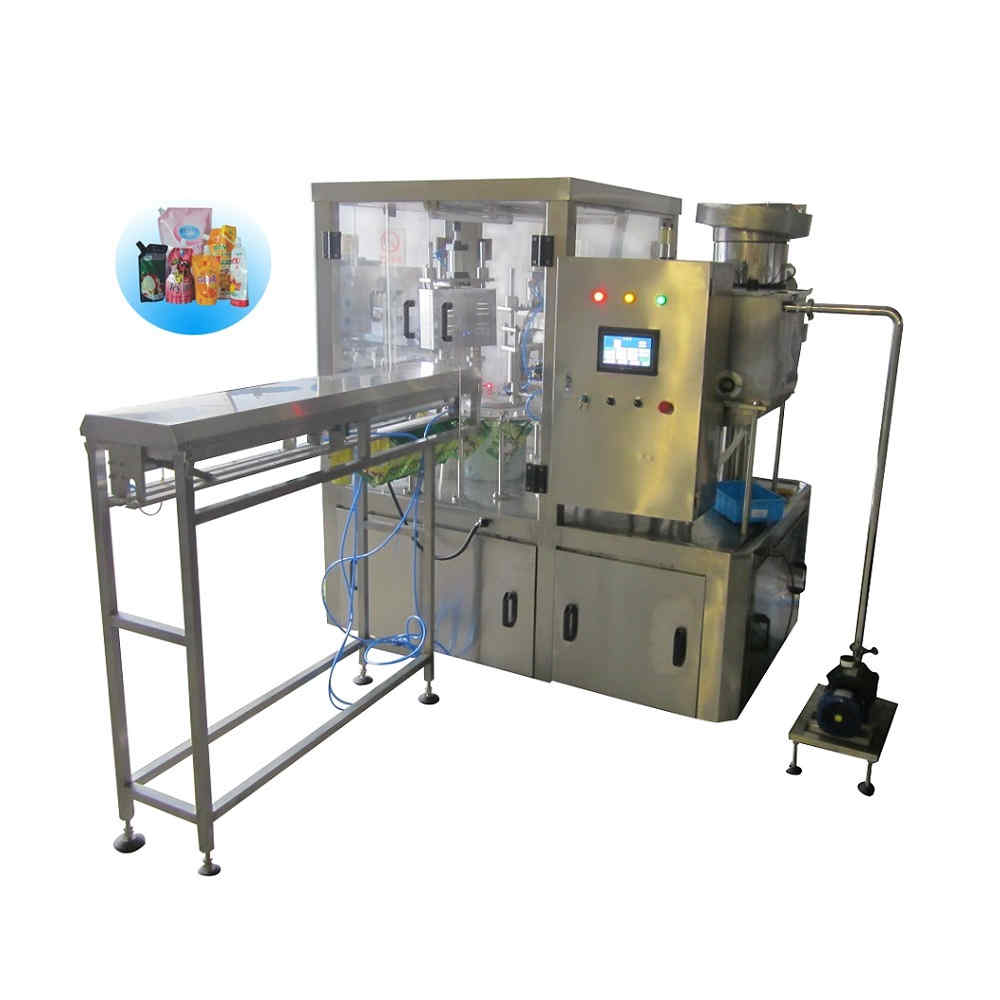ZLD-2A Automatic stand up bag filling capping machine with flushing air