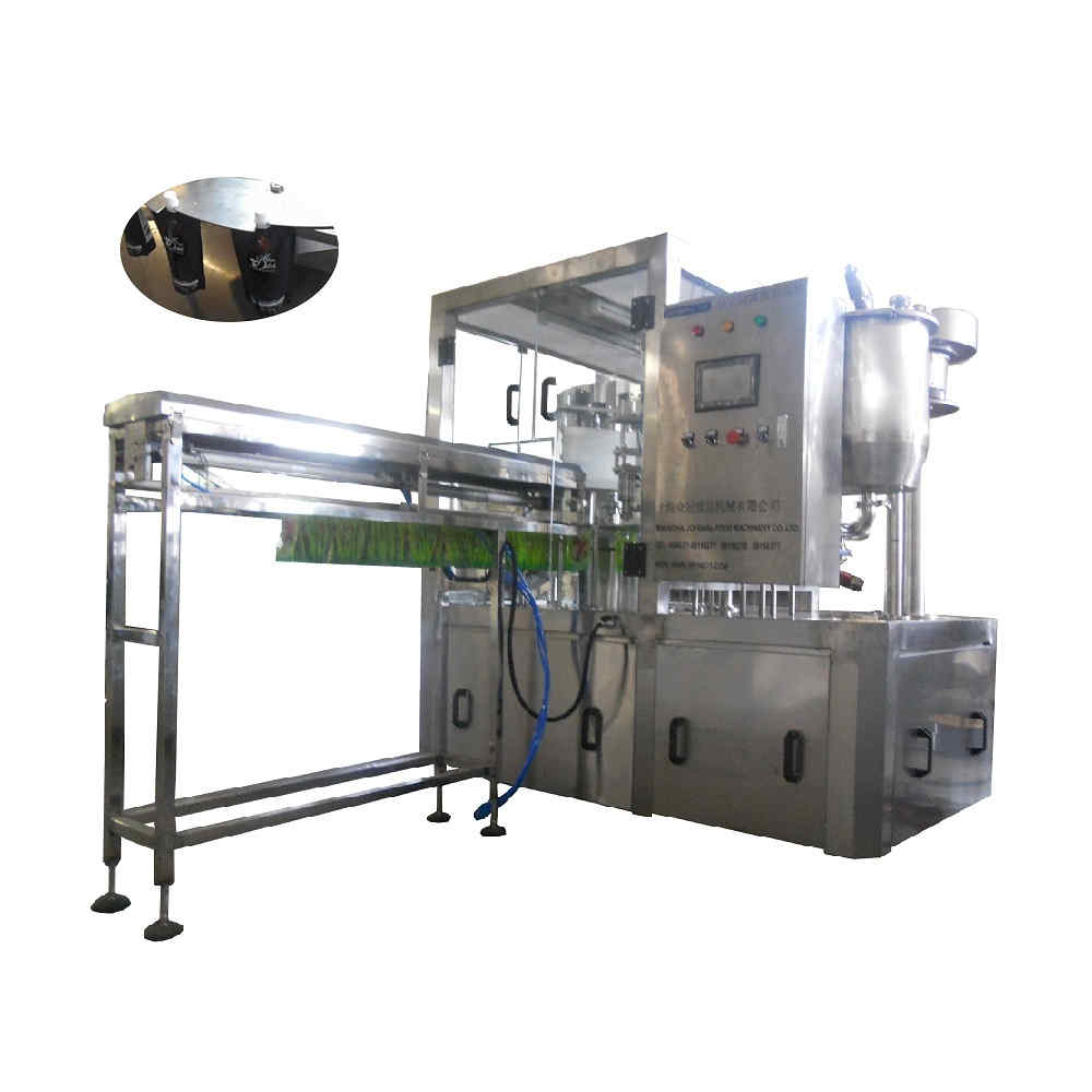 ZLD-2A doy pack stand-up pouch filling and capping machine with ribbon coding