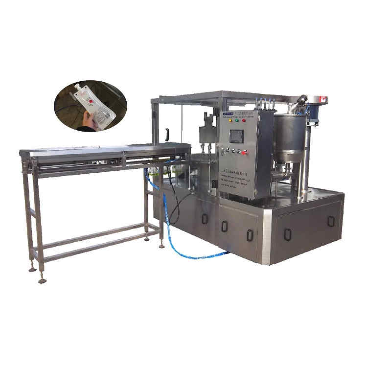 ZLD-3A Automatic spout pouch bag filling and capping machine