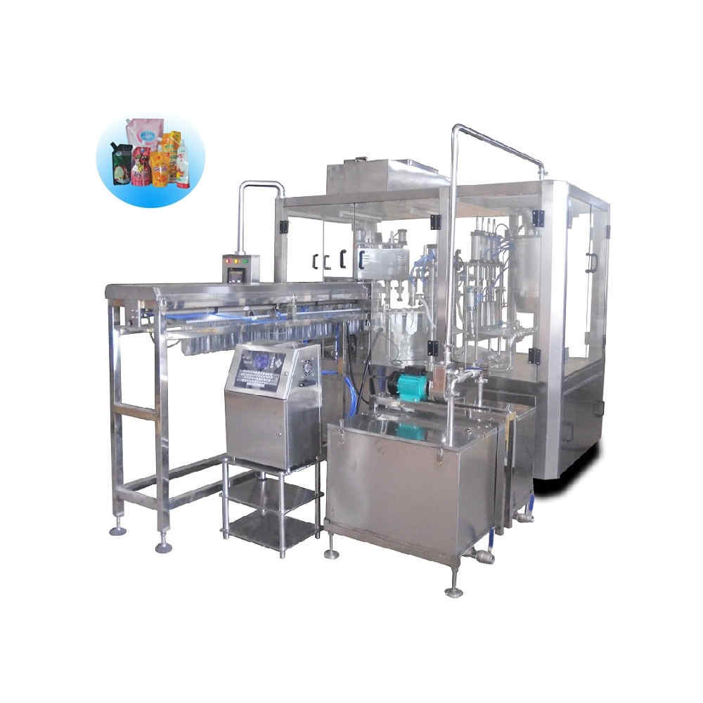 ZLD-4A Automatic stand up pouch filling and cap-screwing machine