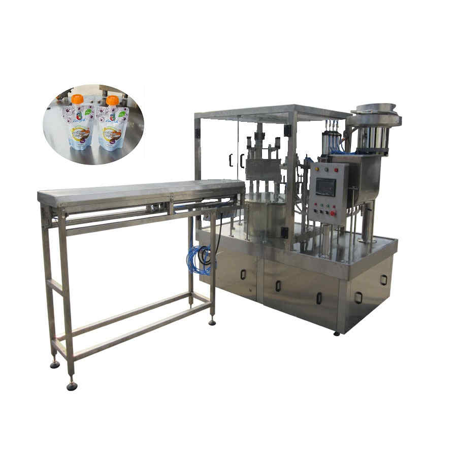 ZLD-4A Automatic doypack pouch filling capping machine for special caps
