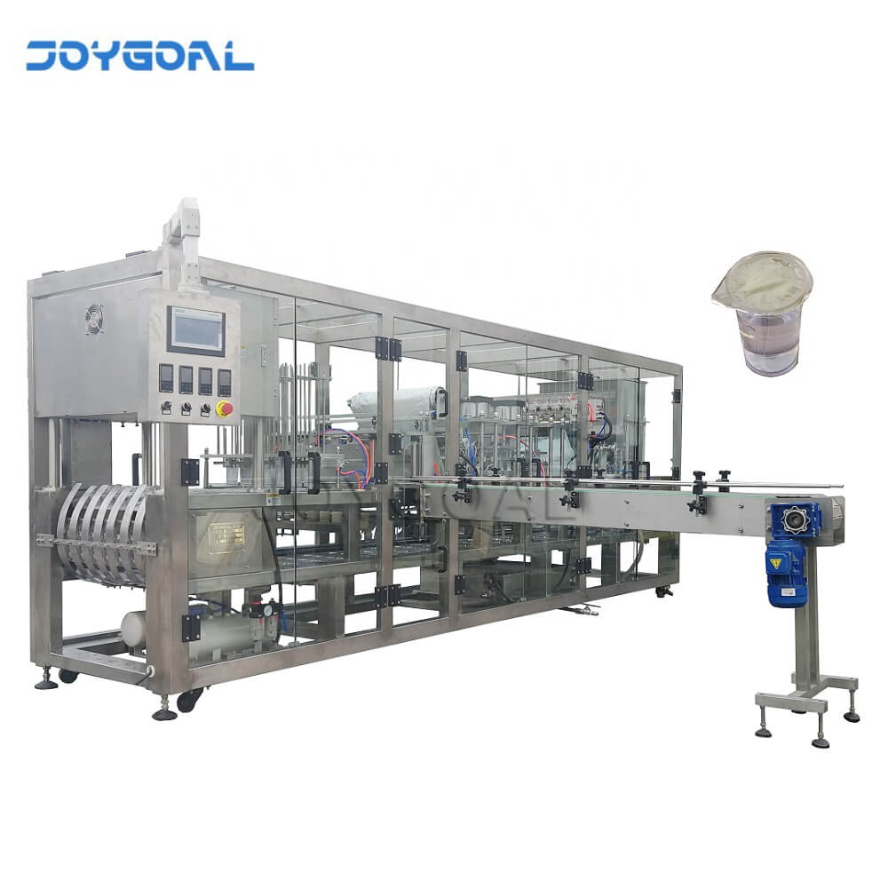 cup filling and sealing machine equipment for liquid water juice jam